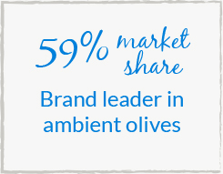 59% market share - Brand leader in ambient olives